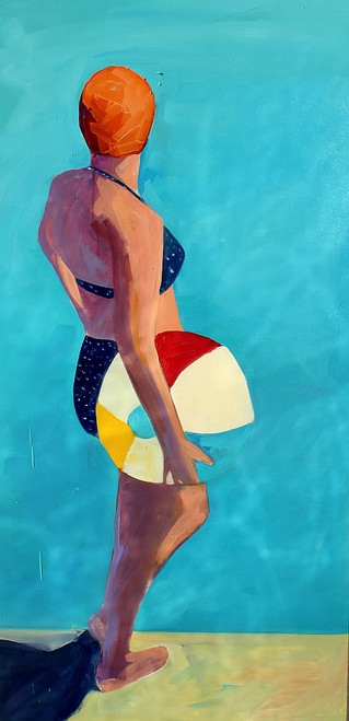 Swimmer and Beach Ball