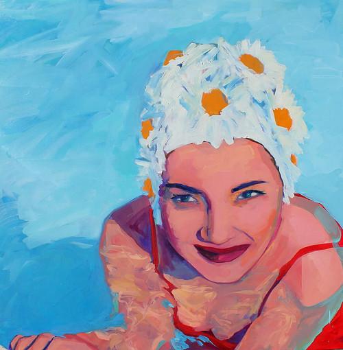 Daisy Swim Cap