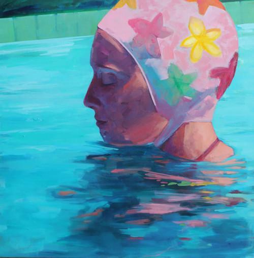 Pink Swim Cap