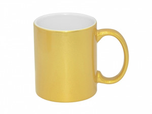 11 oz Metallic Gold Mug for Sublimation