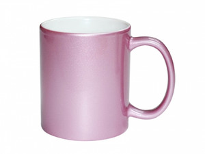 11oz Premium Metallic Pink Photo Mug for Sublimation - AAA Grade