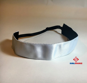 "Sublimation Headband Satin and Black 1.5""wide"