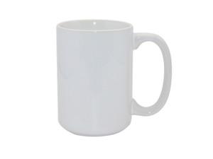 15oz Premium White Photo Mug for Sublimation - AAA Grade