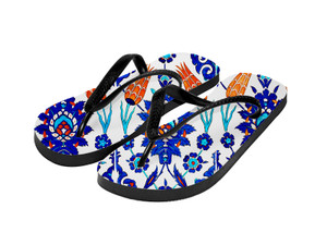 Sublimation Flip Flops with 3 Strap Color Options and Black Base - Adult Small