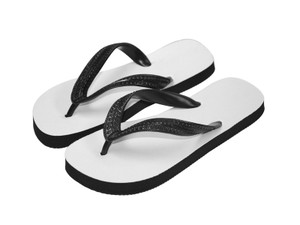 Sublimation Flip Flops with 3 Strap Color Options and Black Base - Youth Medium