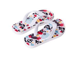 Sublimation Flip Flops with 3 Strap Color Options and White Base - Youth Large