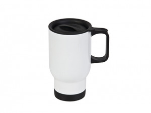 Sublimation Stainless Steel 14oz. Travel Mug With White Coating