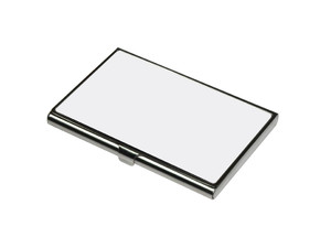 Stainless Steel 3.6 x 2.25 in (6.8cm x 9.7cm) Business Card Holder with Sublimation Insert