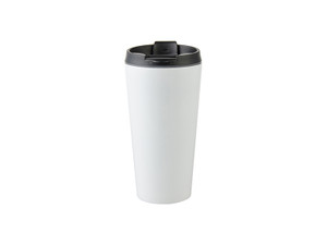 16oz Stainless Steel Tumbler with White Coating
