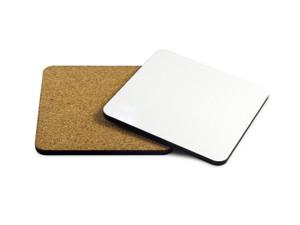 Hardboard Cork Back 4x4 inch Coaster Set of 2