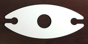 Double Wine Glass Hardboard Single Sided Holder