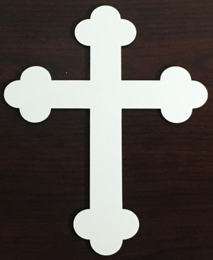 8 inch Hardboard Cross Plaque with Acrylic Holder