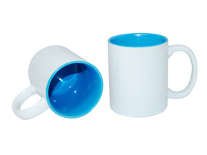 11oz Two-Tone Color Mugs - Light Blue - INVENTORY CLOSE OUT