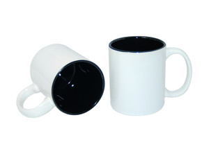 11oz Two-Tone Color Mugs - Black - INVENTORY CLOSE OUT