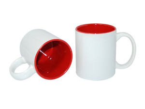 11oz Two-Tone Color Mugs - Red - INVENTORY CLOSE OUT