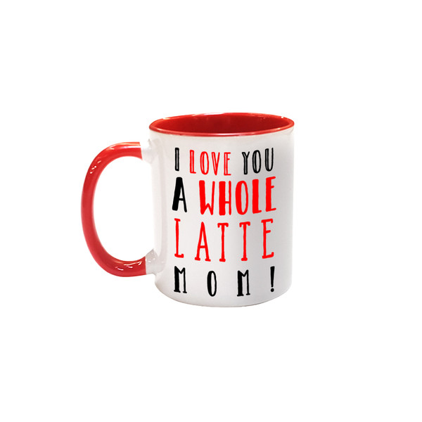 11oz Premium Red Inside and Handle Photo Mug for Sublimation - AAA Grade