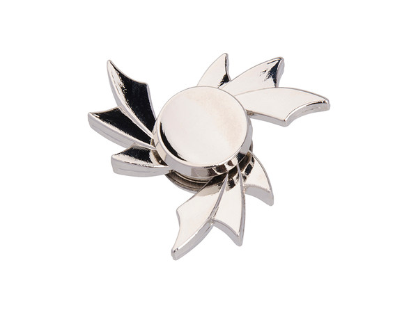 Silver Fidget Spinner with Hot Wheel Design