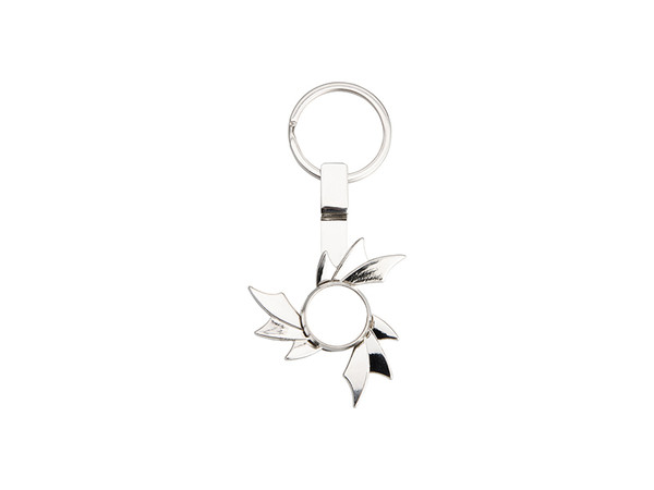 Silver Fidget Spinner with Hot Wheel Design and Key Ring