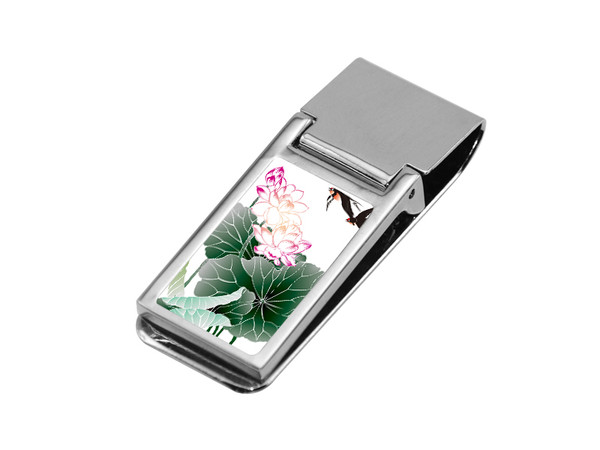 Square Sublimation Cash Clip with Rectangle Insert
