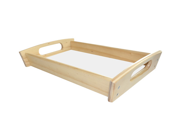 Natural Color Oak Wood Serving Tray 7.5x13.625 with Hardboard Insert