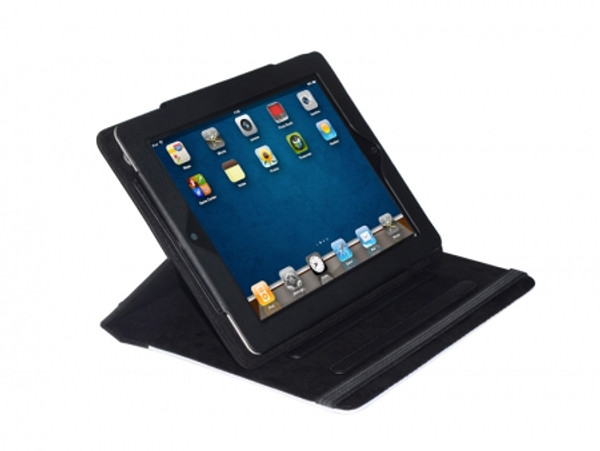 Fabric Sublimation iPad Case - Canvas and Black Suede