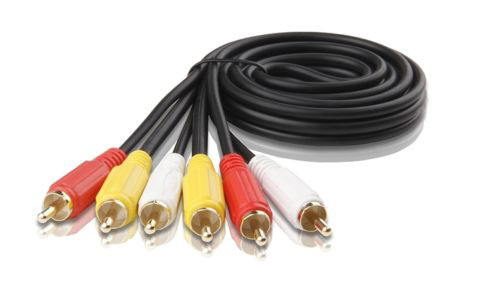 0.5M 3RCA to 3RCA Composite Cable OFC
