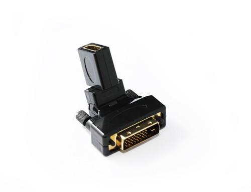 DVI M to HDMI F Adaptor 360 Degree Swivel