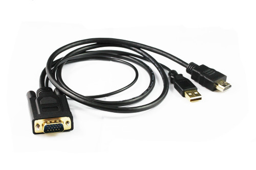 2M HDMI to VGA Round Cable