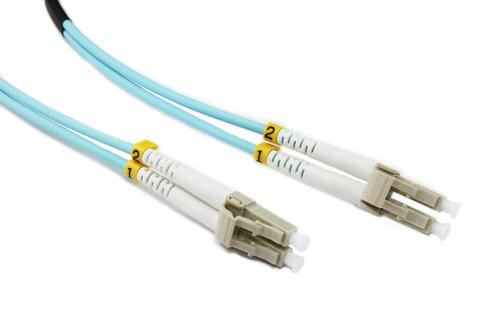 0.5M LC-LC OM3 50/125 Multimode Duplex Fibre Patch Cable