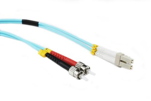 1M LC-ST OM3 50/125 Multimode Duplex Fibre Patch Cable