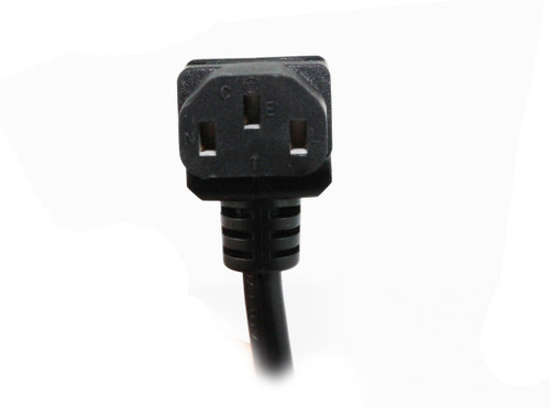 2M Wall Plug to Vertical IEC C13 Plug Power Cable