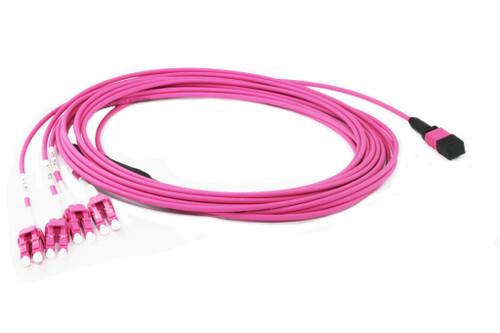 3M MPO to 4x OM4 LC Fibre Cable