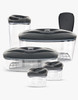 Dafi Set of 5 Vacuum Containers with Electric Pump (Anthracite)