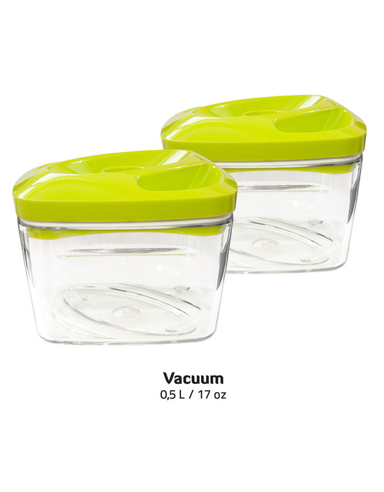 Dafi Set of 5 Vacuum Containers with Electric Pump Lime Dafi LLC