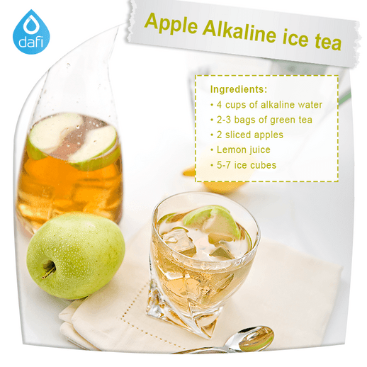 Apple Alkaline ice tea
