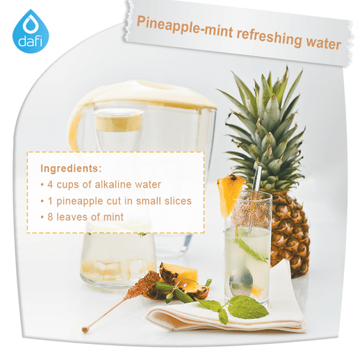 Pineapple-Mint Refreshing Water