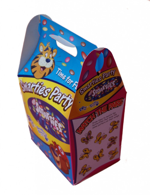 Childrens Cardboard meal boxes printed Smarties