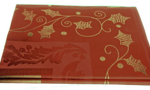 Pack x 10 High Table 120 x 120cm Gold Leaf Red Quality Table covers