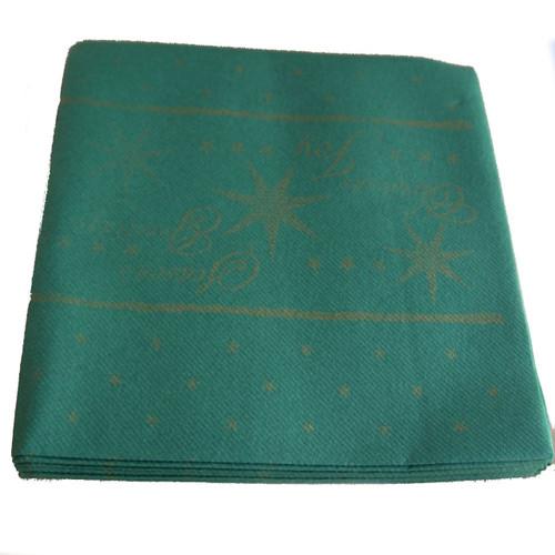 Pack x 50 Swansoft 40 x 40cm Texture Star Green Premium Napkin