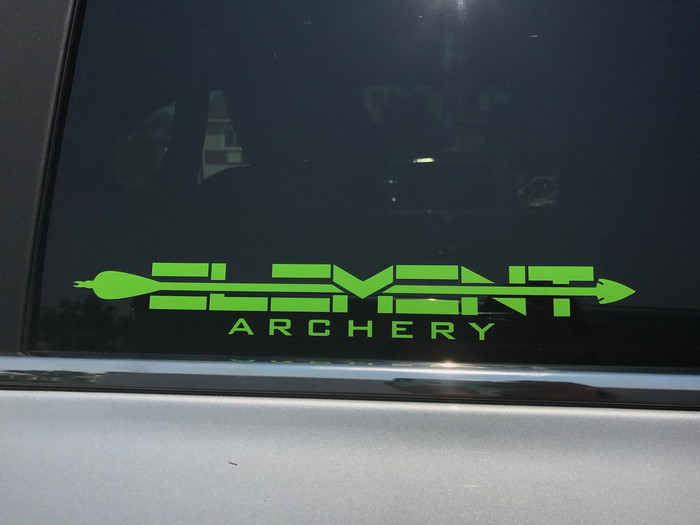 12x2 Element Archery Decal