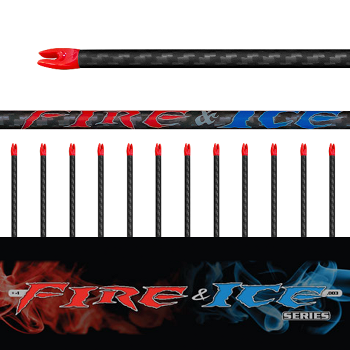 (12) Fire & Ice Arrow Shafts