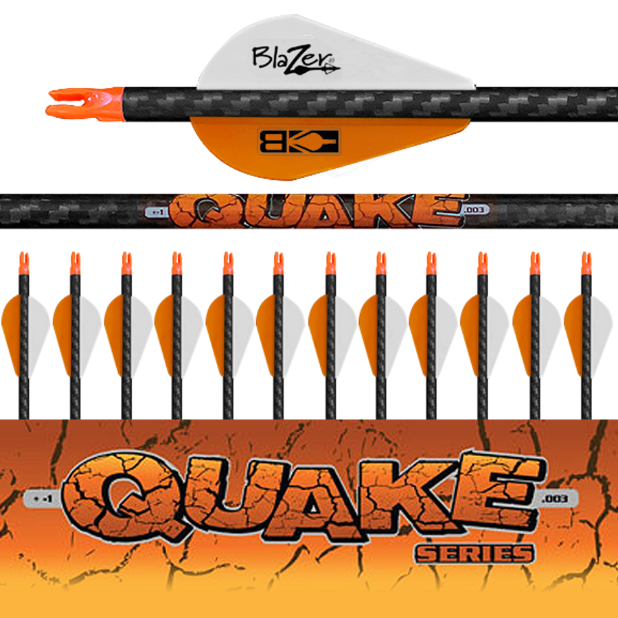 (12) Fletched Quake Arrows