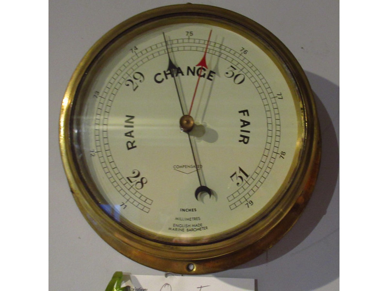 Brass English ships barometer