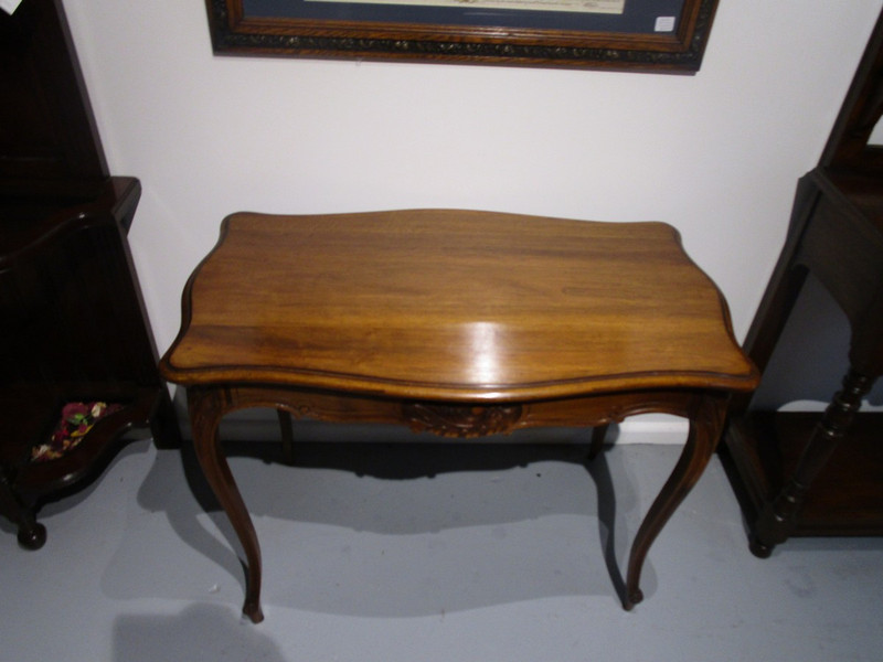 Solid French Walnut Occasional Table