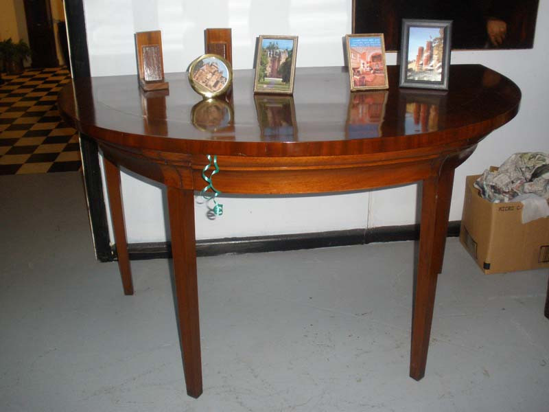 Georgian Styled Flame Mahogany Halltable