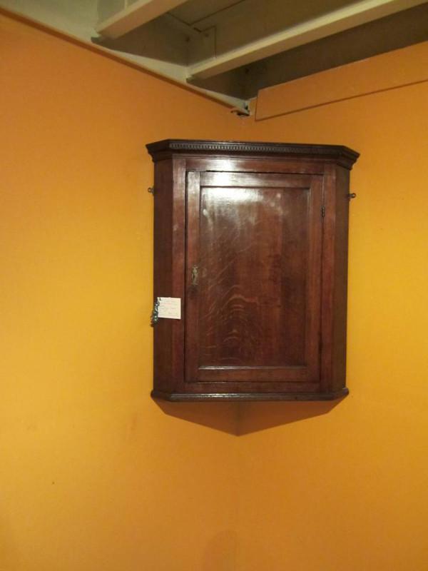 Classical Scottish solid oak Georgian corner cupboard