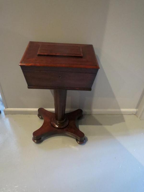 Elegant mahogany sewing table