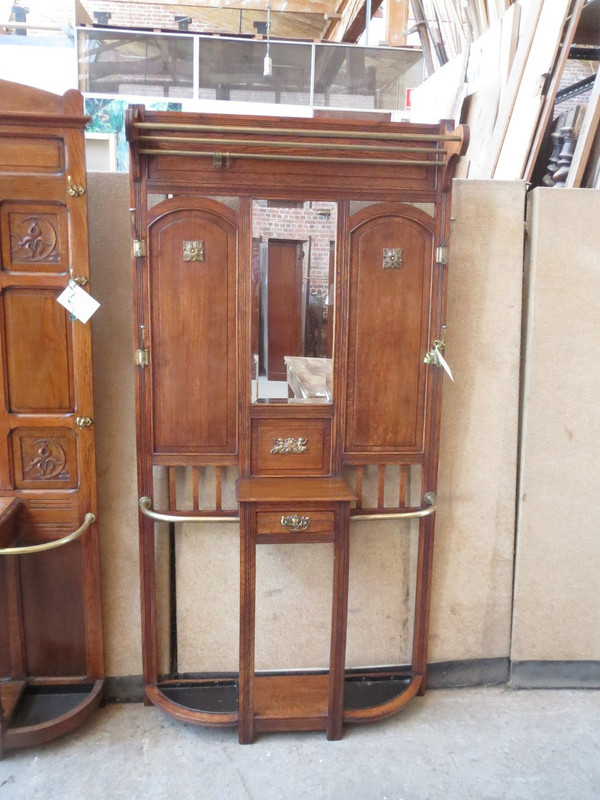 French hallstand with brass fittings