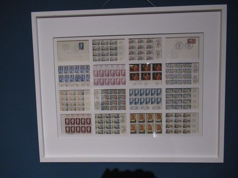 Framed French stamps
