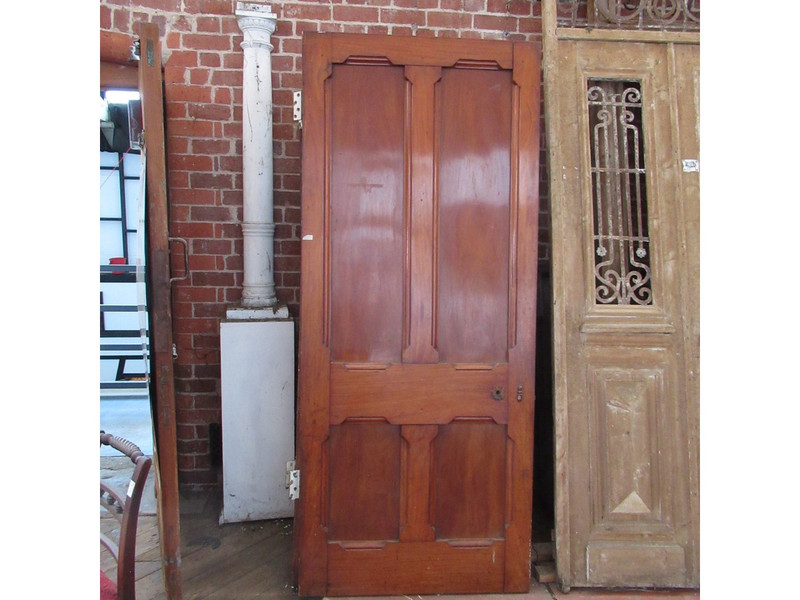 A solid mahogany timber door